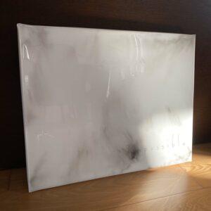 black and white marble resin art print