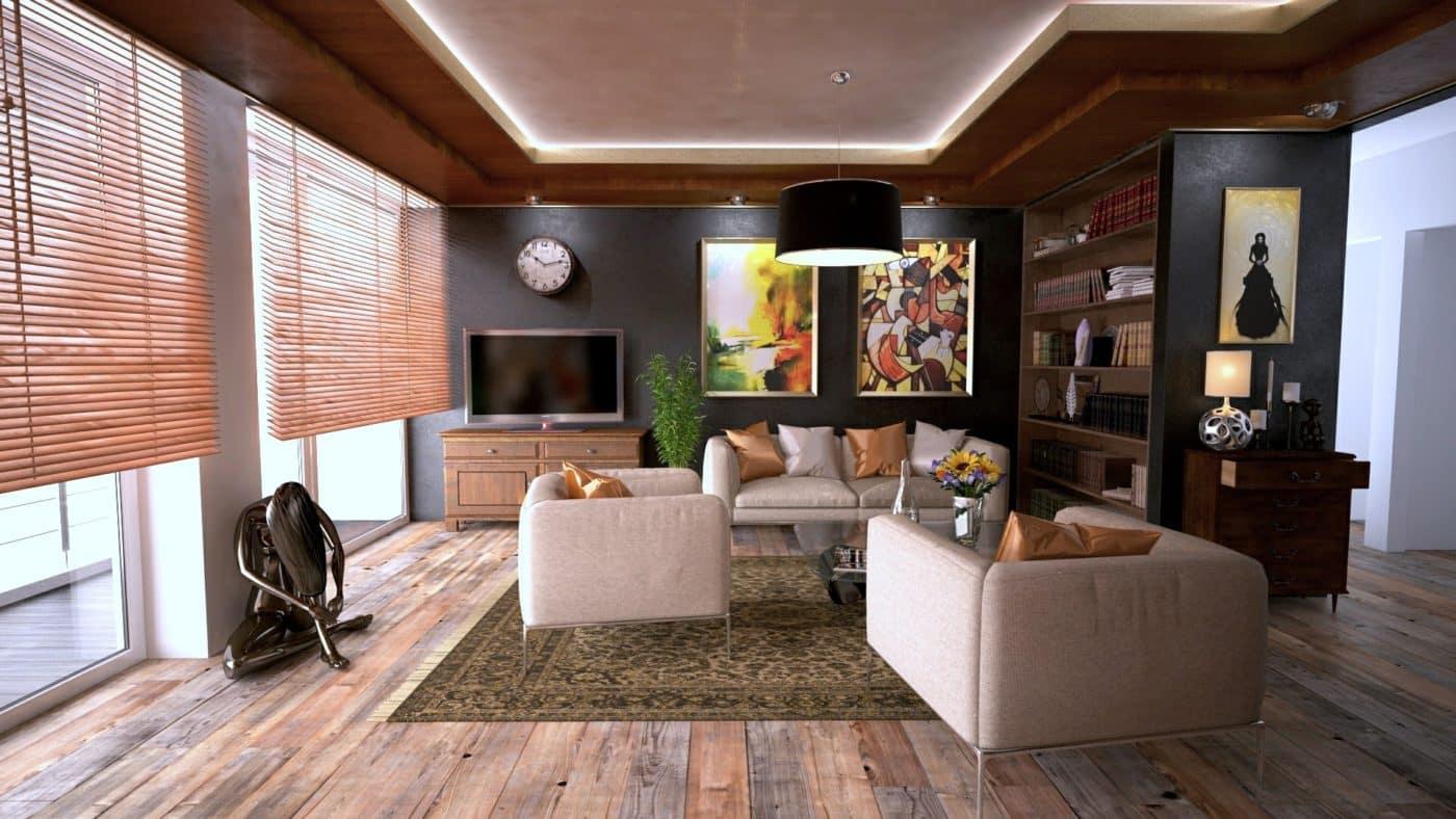 Abstract artworks at home